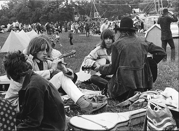 At the Gärdet festival, 1971